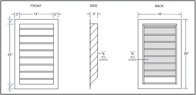 Standard Louver Sizes Sheet Metal